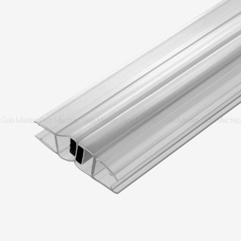 Уплотнительный профиль ПВХ, магнитный 180˚, белый магнит, 8 мм