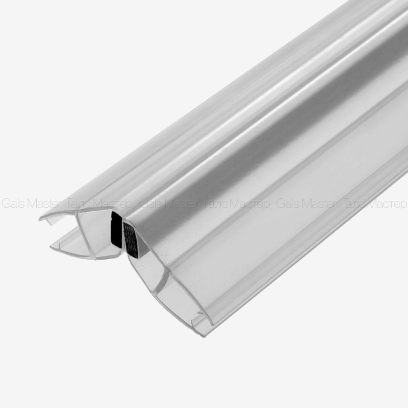 Уплотнительный профиль ПВХ, магнитный 135˚, белый магнит, 8 мм