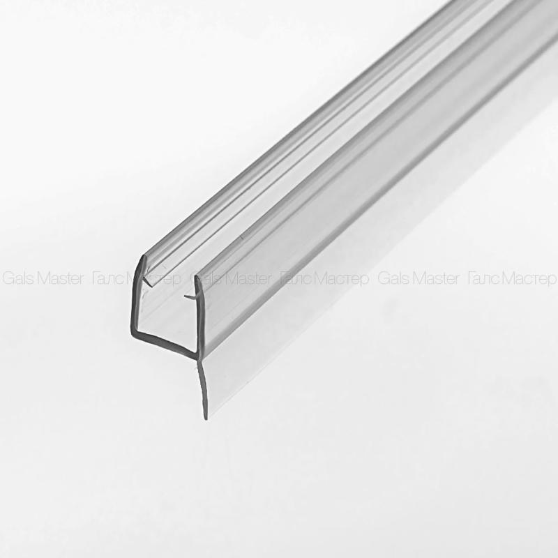 прозрачный уплотнитель на стеклянную дверь в душ
