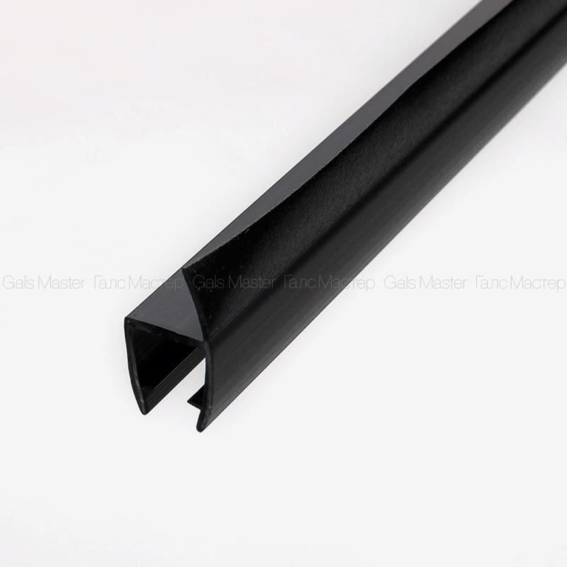 GM-627-8B-2200 Уплотнительный профиль ПВХ, черный матовый, для стекла 8 мм