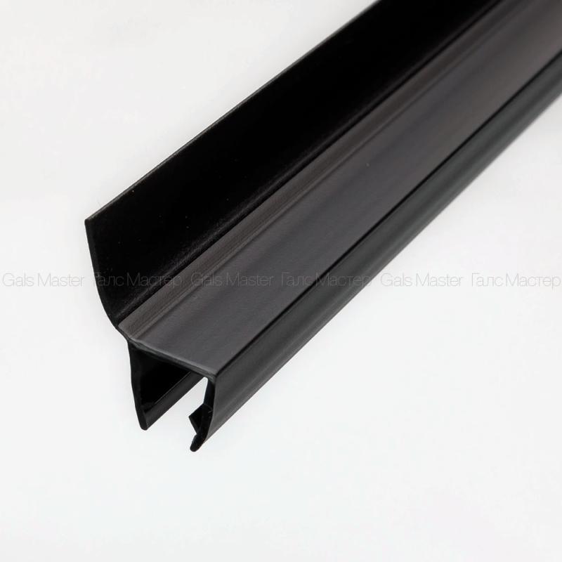 черный ПВХ-профиль для душевой двери