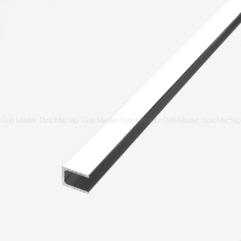 алюминиевый П-профиль для стекла 10 мм