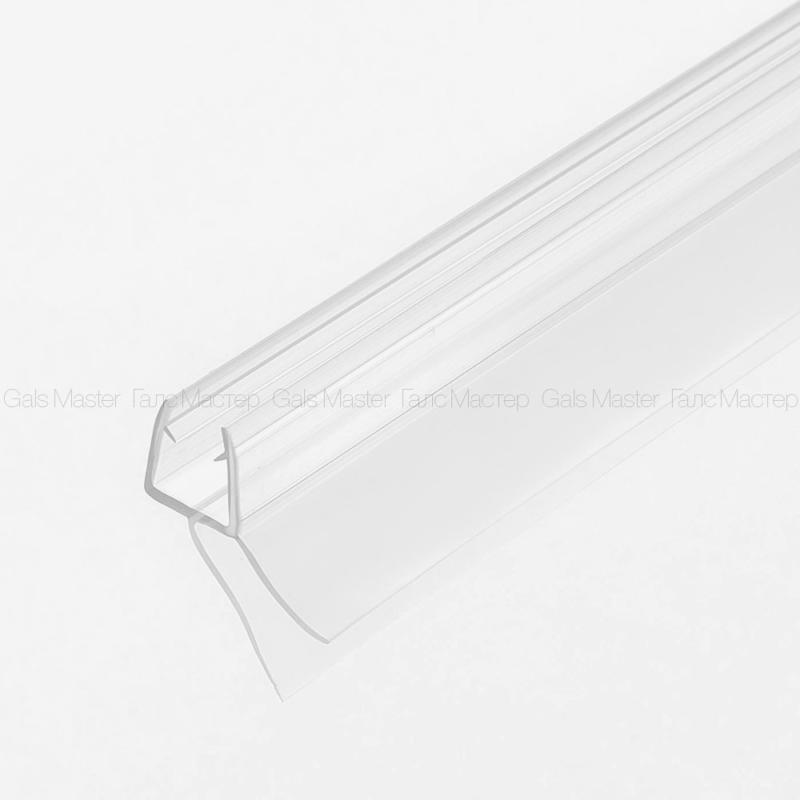 Уплотнительный профиль ПВХ, бесцветный, для стекла 8 мм