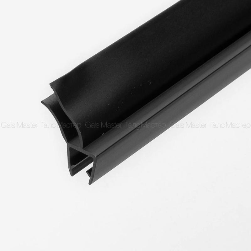 Уплотнительный профиль ПВХ, черный матовый, для стекла 8 мм