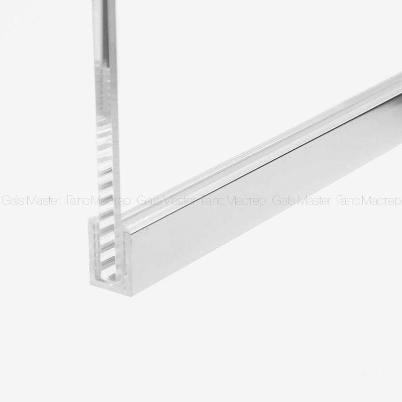 П-образный профиль для стекла 10 мм