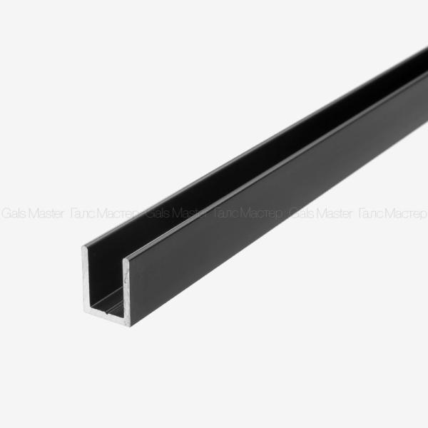 черный п-образный профиль для стекла