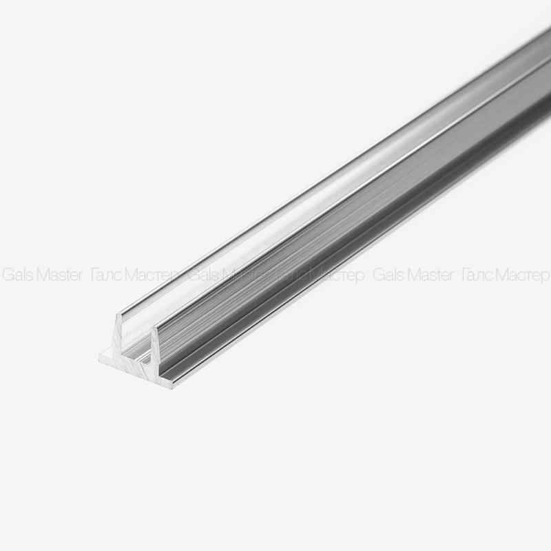 Профиль-заглушка на П-образный профиль 8 мм
