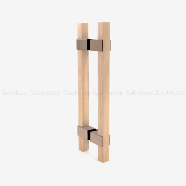 Ручка деревянная (дуб) для стеклянной двери в сауну