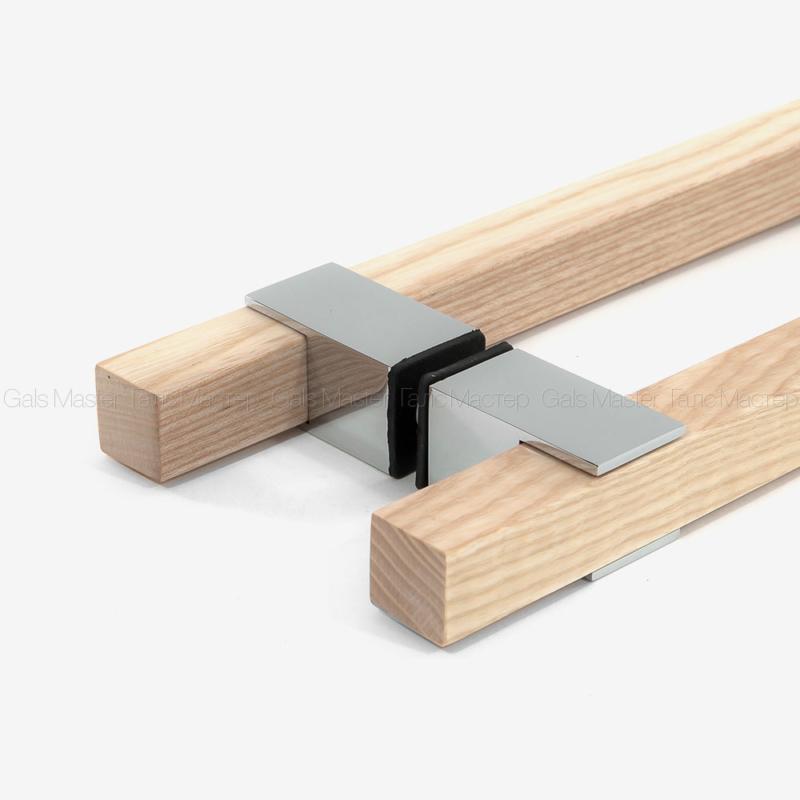 Ручка деревянная (дуб) для стеклянной сауны