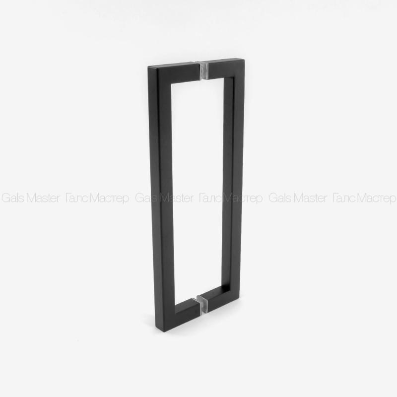 черная ручка для душевой двери из стекла