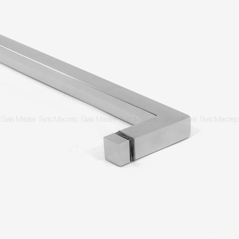 Ручка-полотенцедержатель с кнобом сквозь стекло