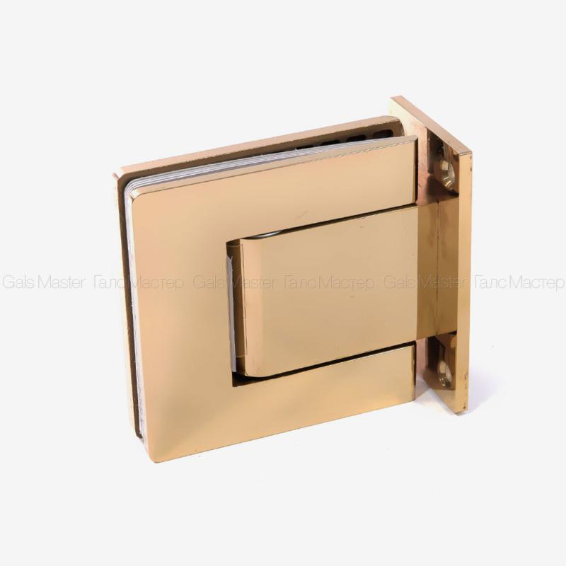 Гидравлическая петля стена-стекло 90˚ под золото