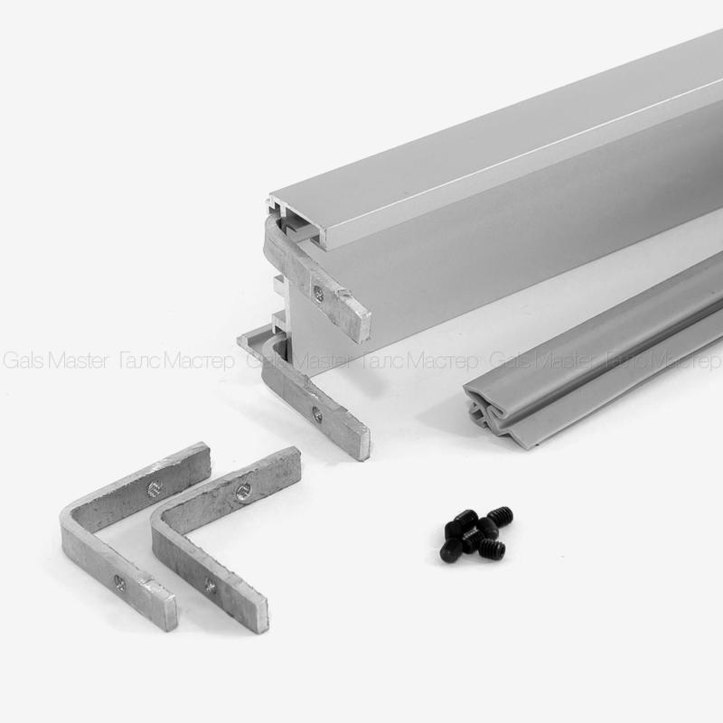 алюминевая двервная коробка для межкомнатной стеклянной двери